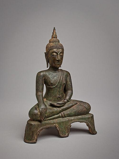BUDDHA MARAVIJAYA ON THRONE