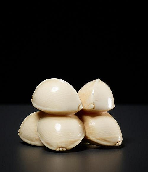 A GROUP OF 6 GINKGO NUTS