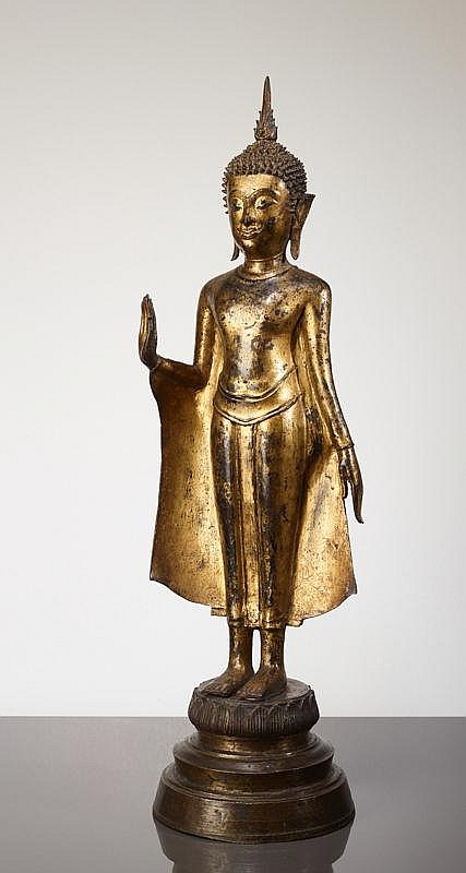 ON LOTUS BASE STANDING BUDDHA SHAKYAMUNI