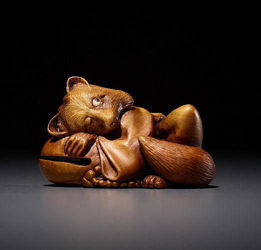 DERKACHENKO: TANUKI SLEEPING ON A TEMPLE GONG