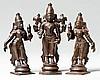ALTAR WITH VISHNU, BHUMIDEVI AND LAKSHMI