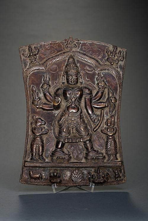 SHIELD WITH SIX-ARMED VIRABHADRA