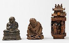 A GROUP WITH BUDAI, LIU HAI AND FIGURAL GATE