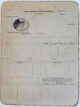John Deere Plow Co. Stone Lithography Block