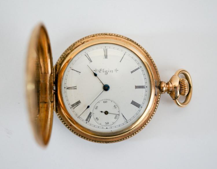 elgin ornate gold filled pocket