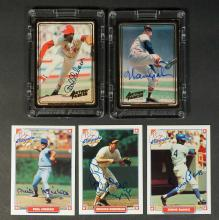 Group of (15) Hall of Fame Signed Baseball Cards