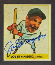 Joe DiMaggio Signed 1938 Goudey Reprint
