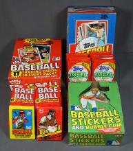 Group of Vintage Baseball Unopened Wax Packs