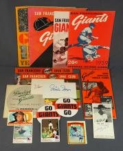 San Francisco Giants Memorabilia Lot