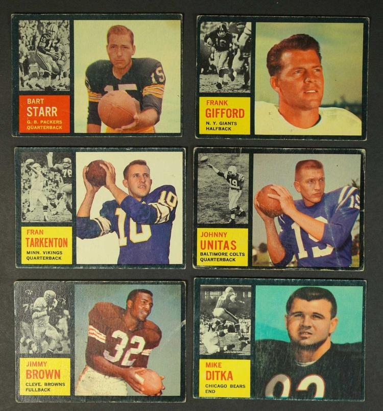 1962 Topps Football Cards