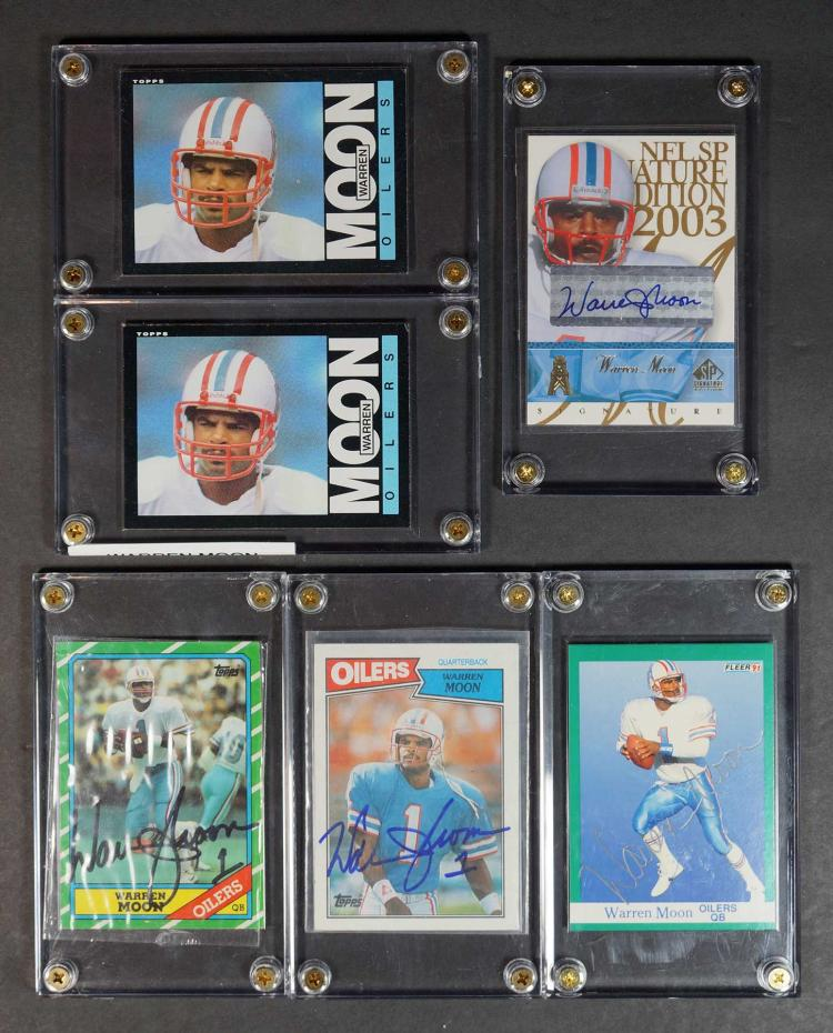 Warren Moon Signed and Rookie Football Cards