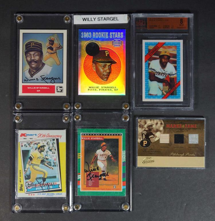 Willie Stargell Game-Used, Autographed Cards
