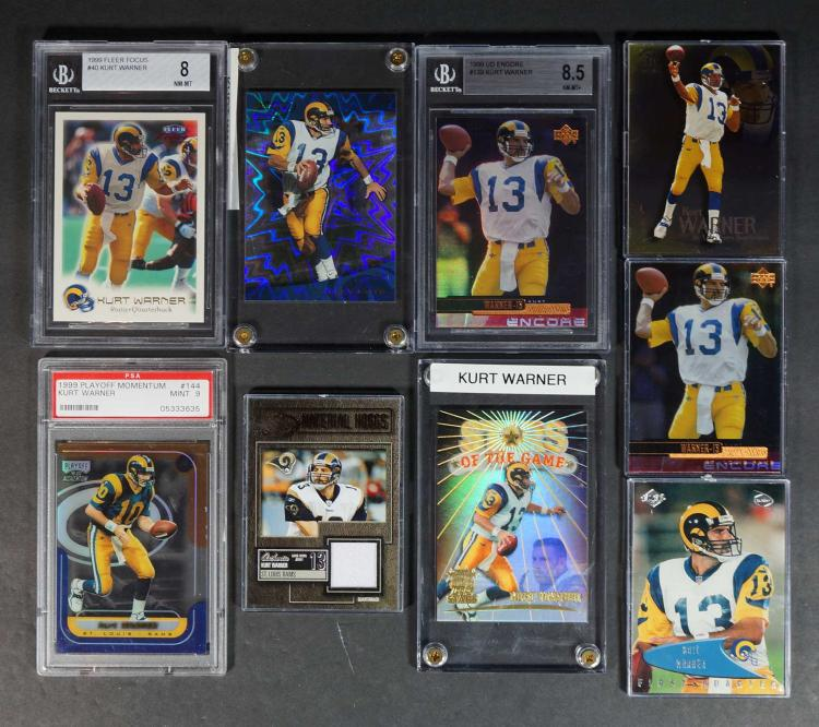 Kurt Warner Game-Used, Graded and Insert FB Cards