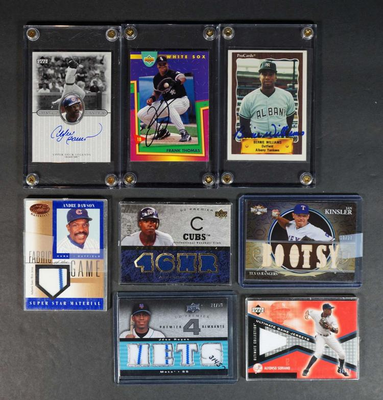 Group (14) Game-Used and Autographed BB Cards