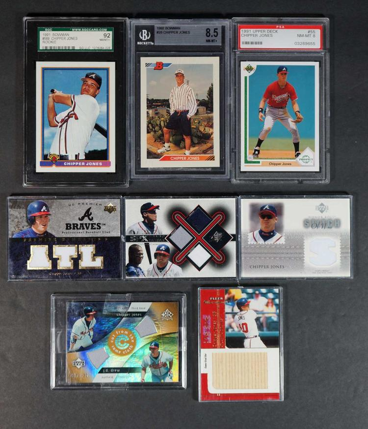 Chipper Jones Game-Used and Rookie BB Cards