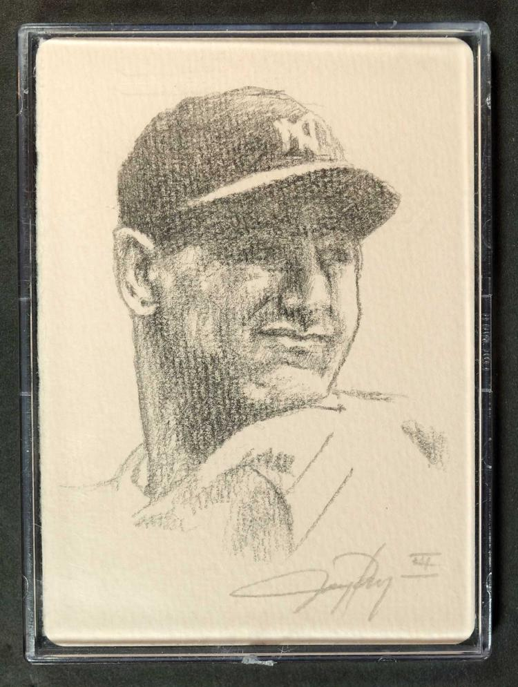 Lou Gehrig 1/1 Original Sketch Card J. Pangan