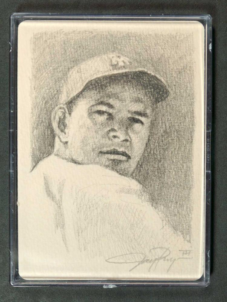 Mel Ott 1/1 Original Sketch Card J. Pangan