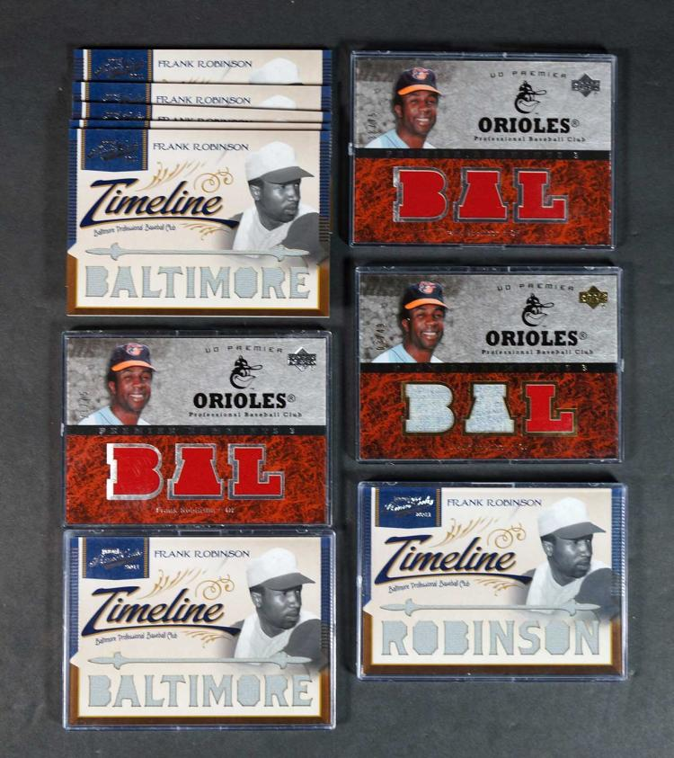 Frank Robinson Game-Used Baseball Cards (20)