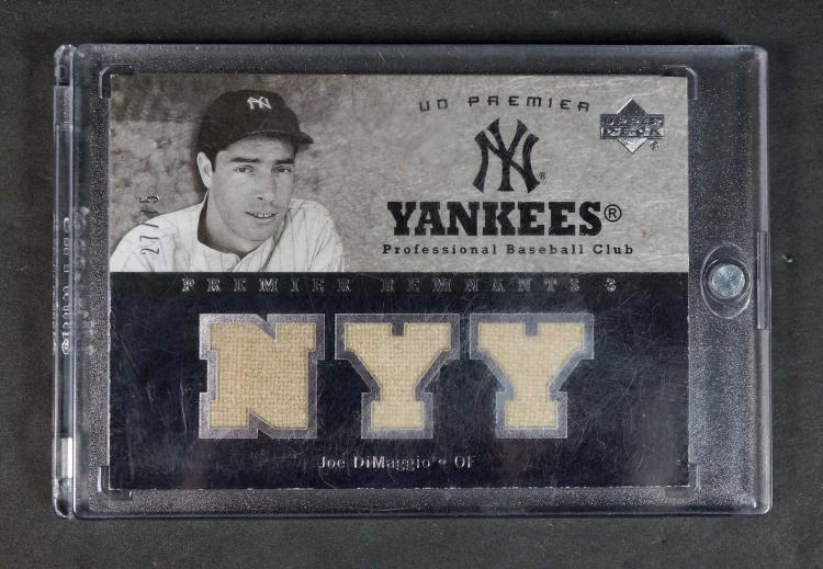 Joe DiMaggio UD Premier Remnants BB Bat Card