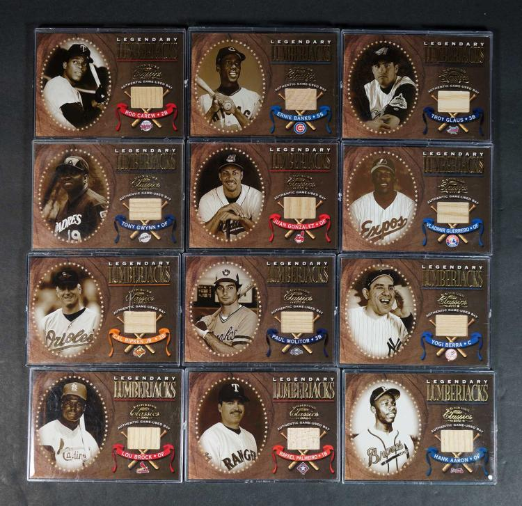 2001 Legendary Lumberjacks Game-Used Cards (45)