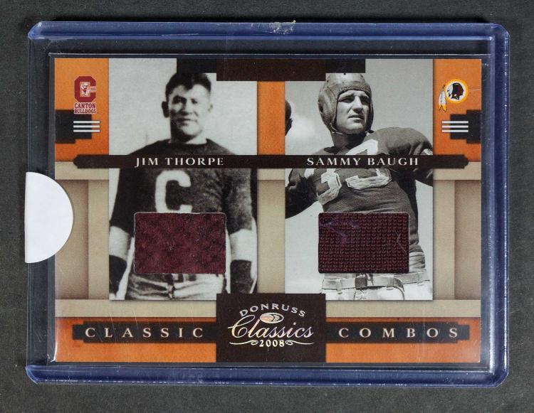 Jim Thorpe/Sammy Baugh Classics Combos FB Card