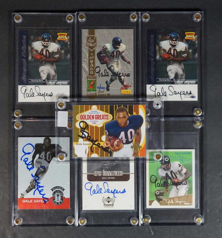 Gale Sayers Autographed and Insert Cards (7)