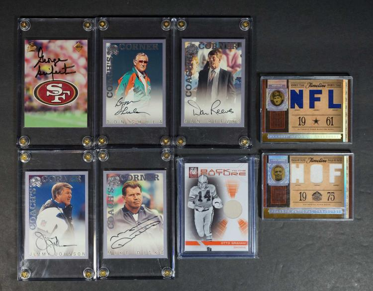 NFL Coaches HOF Autographed Game-Used Cards