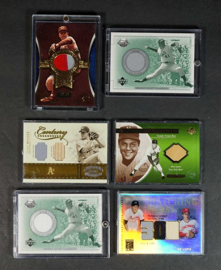 Tom Seaver Game-Used Relics Baseball Cards (12)