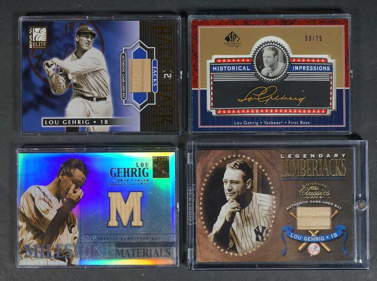 Lou Gehrig Game-Used, Limited Edition BB Cards