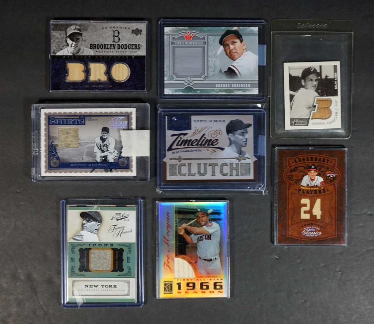 Brooks Robinson, Pee Wee Reese Game-Used Cards