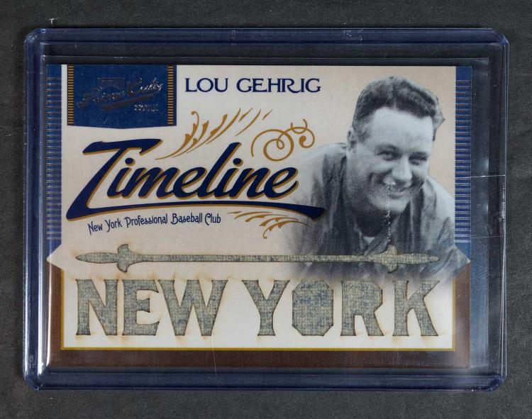 Lou Gehrig Prime Cuts Game-Worn Jersey BB Card
