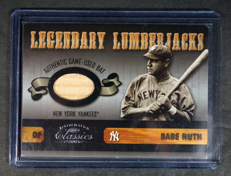 Babe Ruth Game-Used Bat Relic BB Card