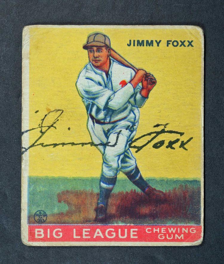 Jimmie Foxx Autographed 1933 Goudey BB Card