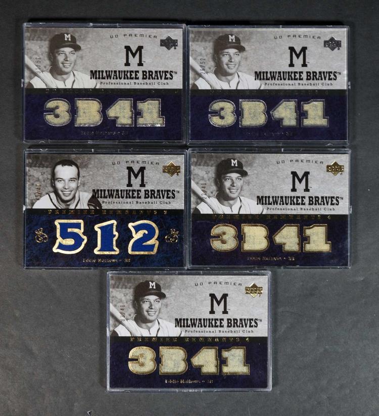 Eddie Mathews Game-Used Relic BB Cards (10)
