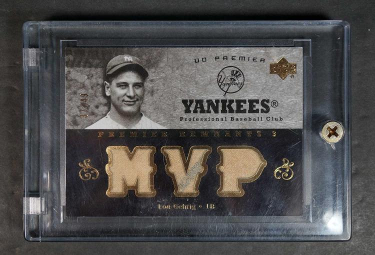 Lou Gehrig Game-Used Relic Baseball Card #37/49