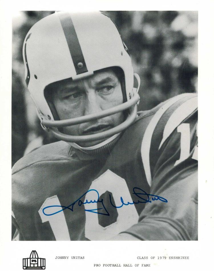 Johnny Unitas Signed Photograph