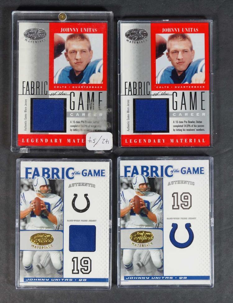 Johnny Unitas Game-Worn Football Relics Cards (7)