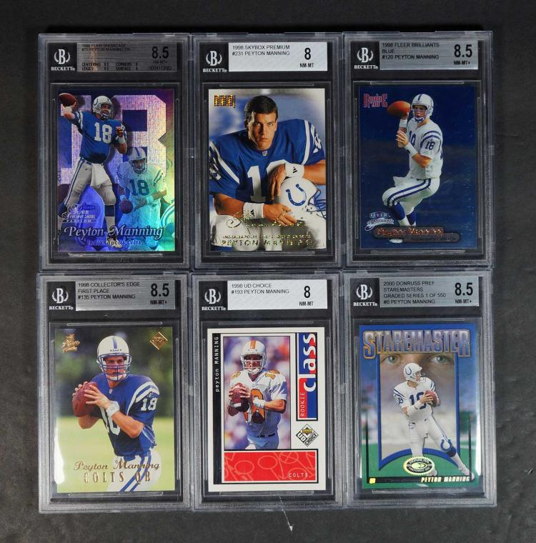 Peyton Manning Rookie, Insert and LE Cards (10)