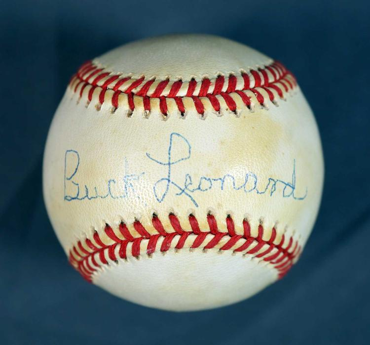 Buck Leonard Autographed Baseball
