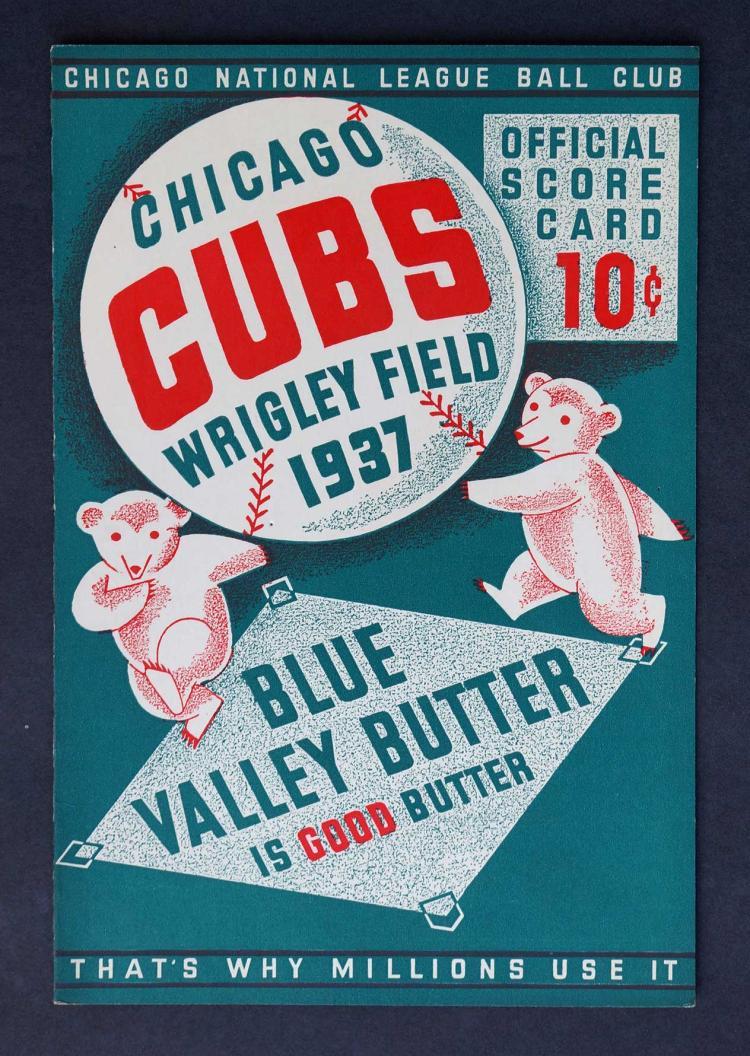 1937 Chicago Cubs Wrigley Field Program