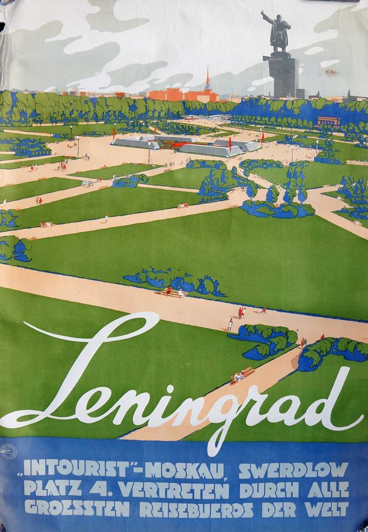 Leningrad Soviet Russian Propaganda Poster