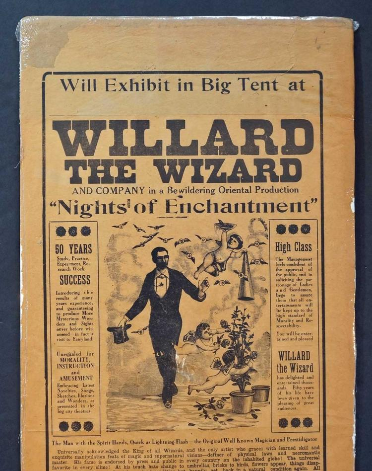 Willard The Wizard Poster, late 19th Century