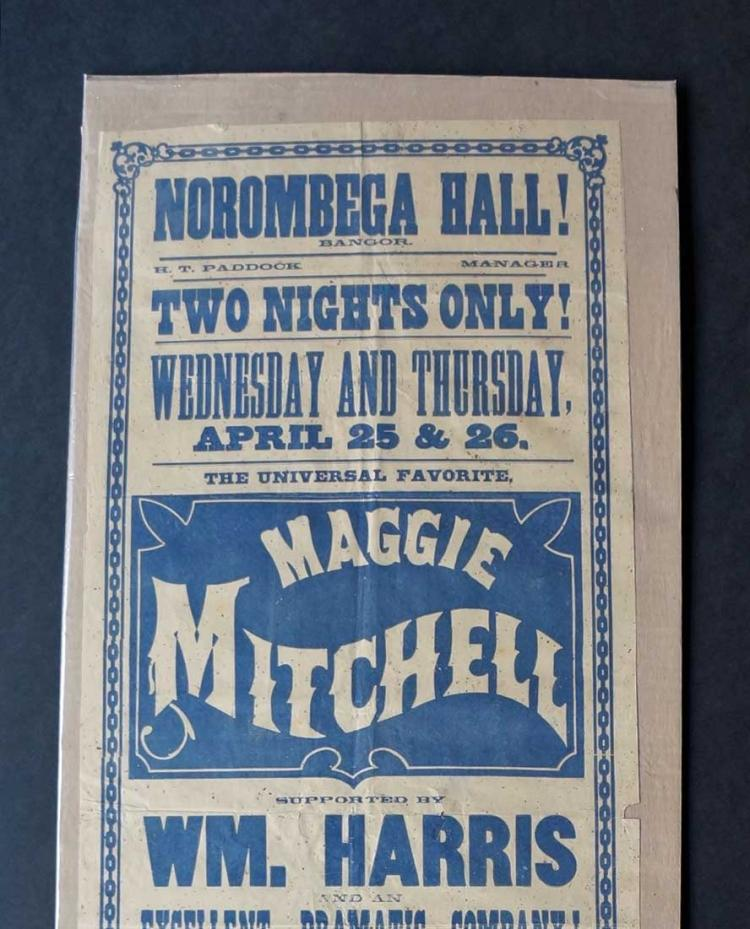 19th Century Broadside Actress Maggie Mitchell