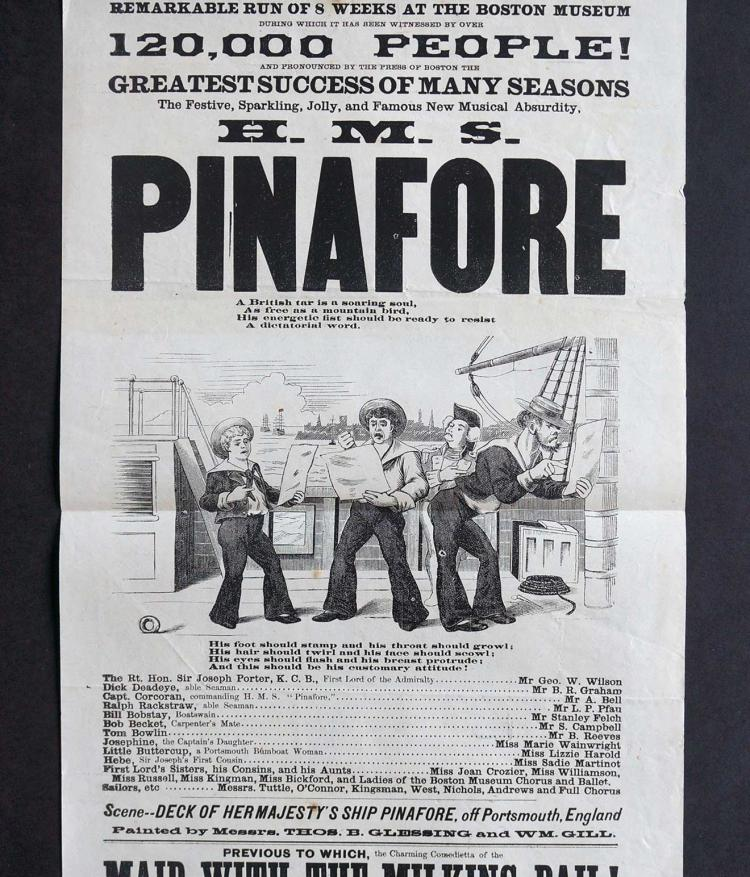 1879 Theater Broadside [H.M.S. Pinafore]