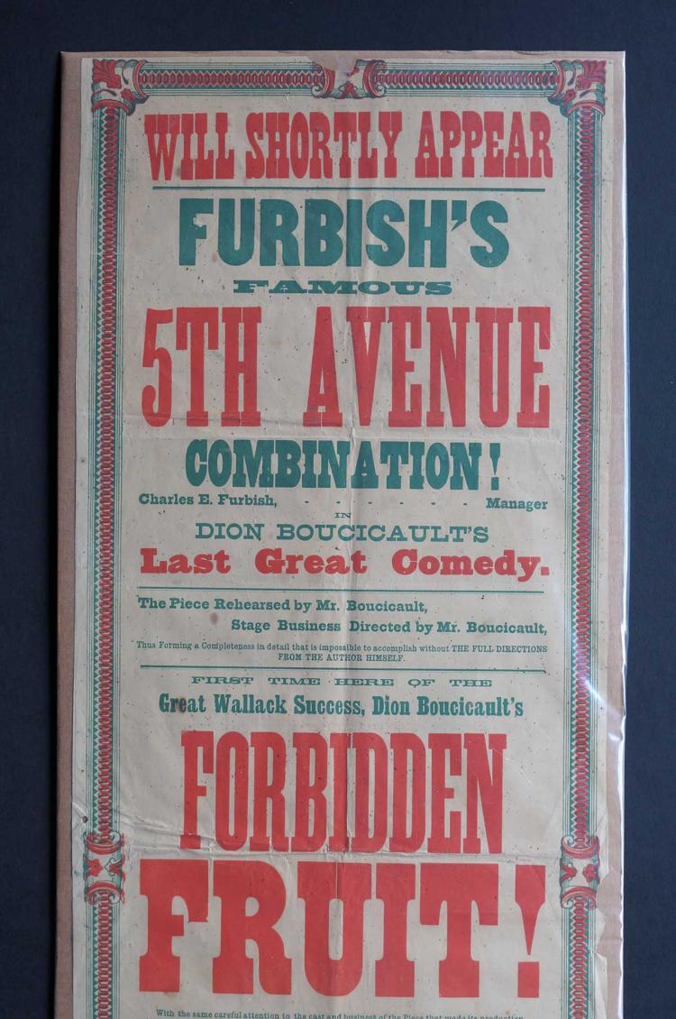 19th Century Broadside [Forbidden Fruit]