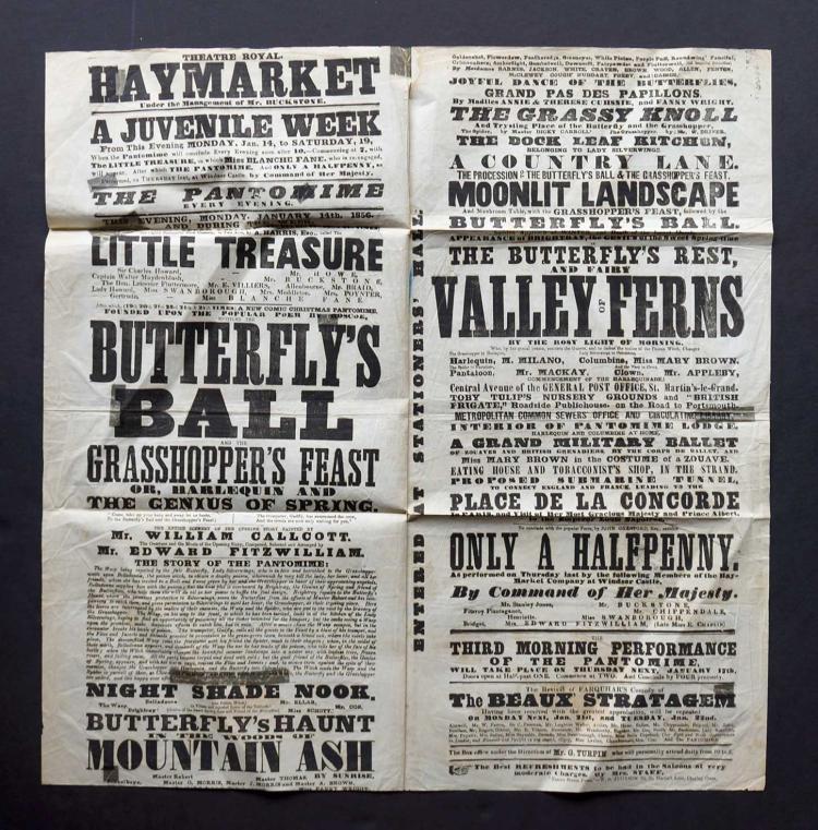 1856 Broadside [Butterfly's Ball]