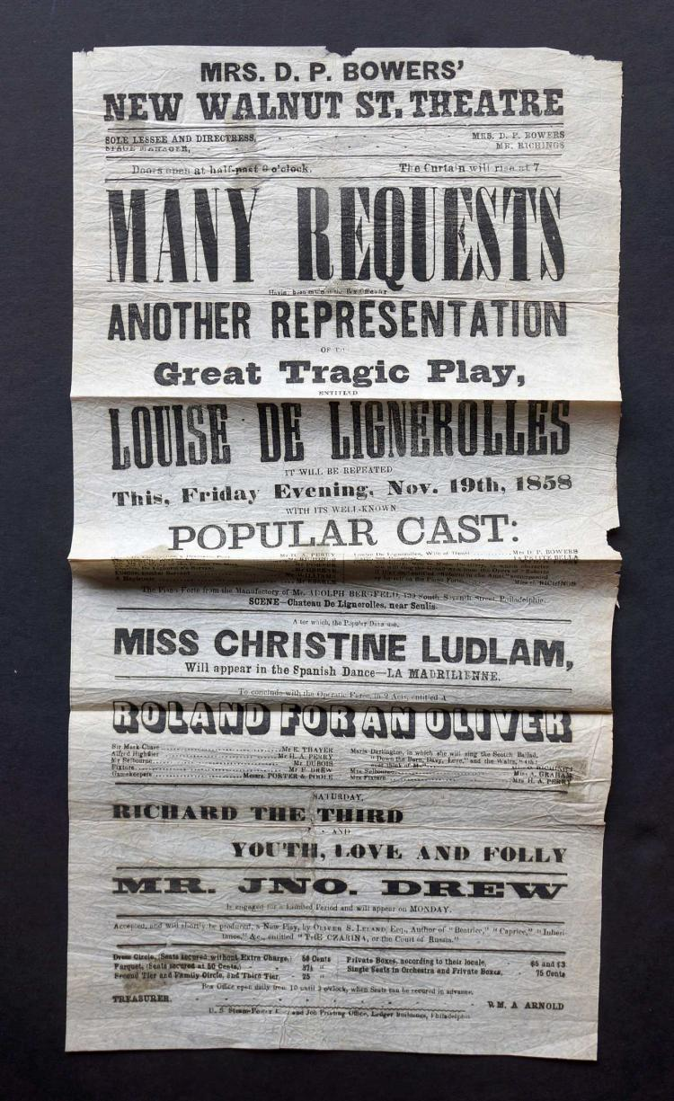 1858 Broadside [Louise De Lignerolles]