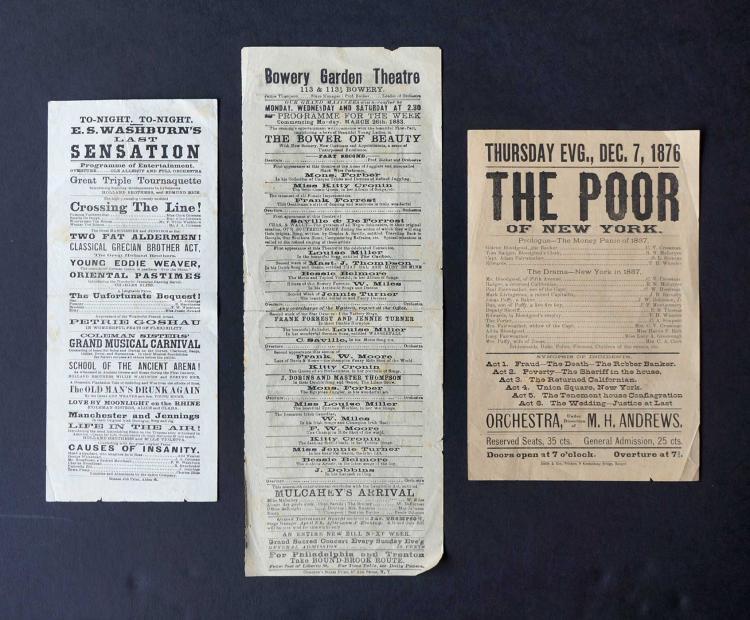 Three 1870's/80's Broadsides, Variety Shows