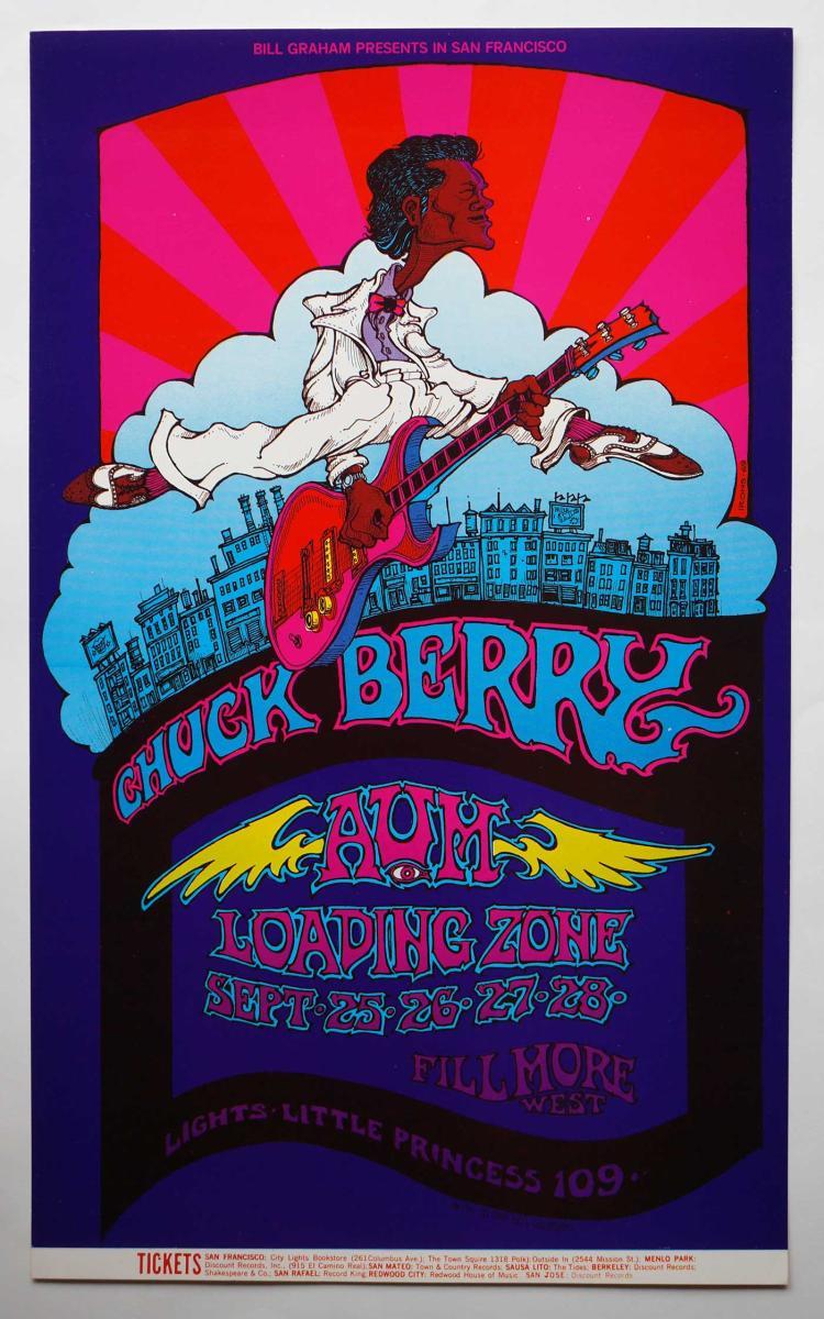 Chuck Berry Fillmore Era Poster 1969
