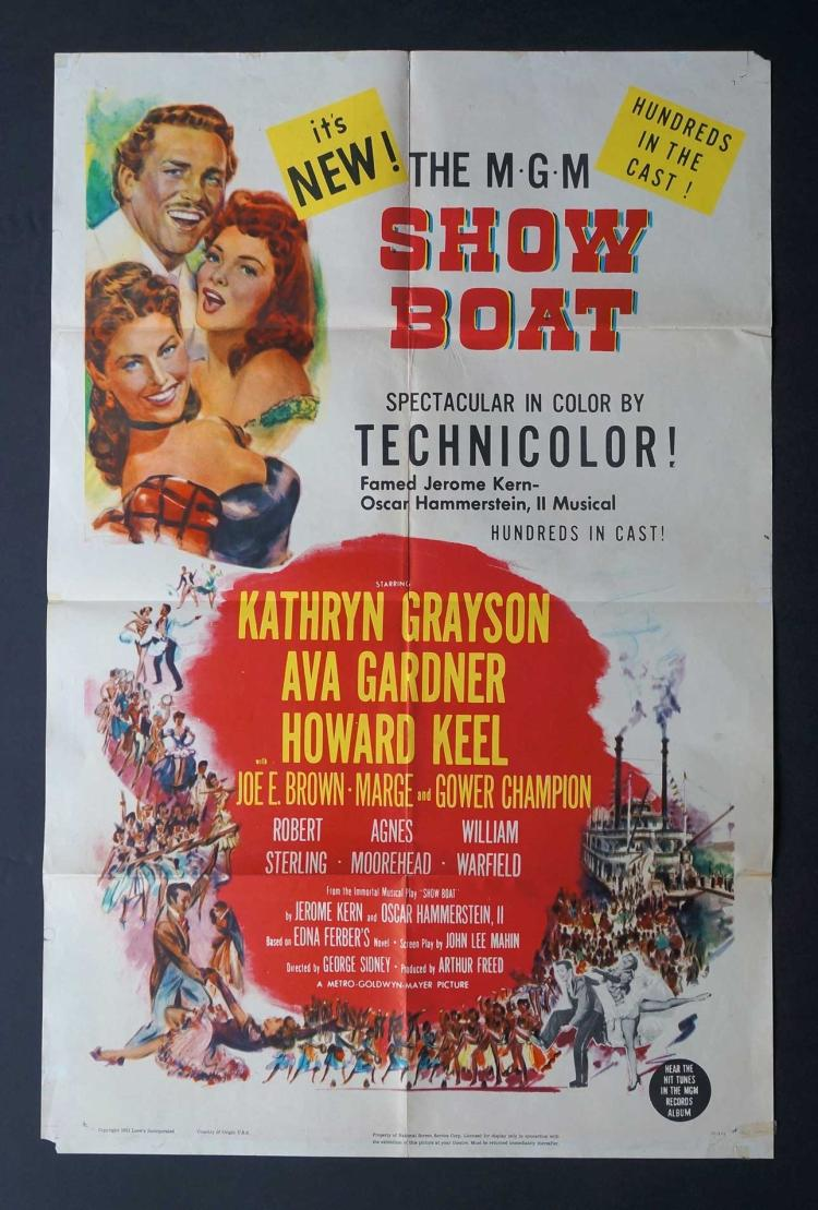 Show Boat (MGM, 1951) One Sheet Movie Poster